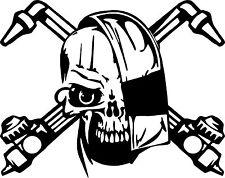 Welder Skull Welding Helmet Torch Car Truck Window Laptop Vinyl Decal Sticker