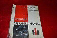 International Harvester 10 20 Rear Mounted Blade Operator's Manual ABPA