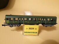 Minitrix 3024 Spur N Bruhat-Personenwagen Mitteleinstiegs-Wagen SNCF Epoche 4