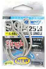 AMI MARE PER ARTIFICIALI S-125 PLUGGING SINGLE SIZE 7/0 OWNER HOOKS TUNA TONNO