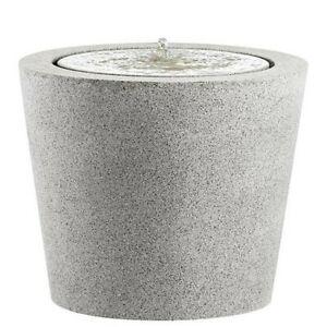 esteras - Brunnen LED fountainslite *DORO* GRANITGRAU D57cm H47cm runder emsa