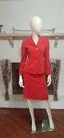 KASPER PETITE Coral/Orange 2-Piece Skirt Suit-Size 2P