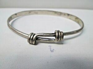 Ed Levin Sterling Silver Bangle Bracelet   #8