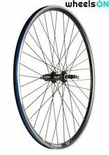 QR 700c Wheelson Rear Wheel 8/9/10 Speed Cassette 36h Black Rim Silver Spokes