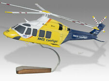 AgustaWestland AW139 CareFlight Handcrafted Solid Wood Display Helicopter Model