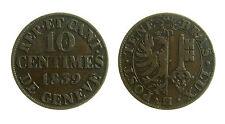 pcc1839_74) Swiss Cantons. City of Geneva. 10 Centimes 1839