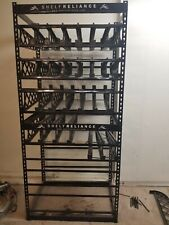 Two Shelf Reliance Food Storage Racks stacked on each other [one tall unit]