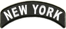 New York Rocker Patch - By Ivamis Trading - 4x1.75 inch Free Shipping P1459