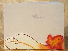 Autumn Fall Wedding Guest Book Reception Leaf Signature Sign Gift Orange Party