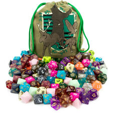 New Wiz Dice Bag of Tricks: 140 Polyhedral Dice in 20 Complete Sets DND RPG