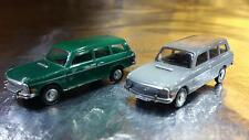 ** Herpa 451581 Audi 60 Avant 2 Car Pack 1 x Green & 1 x Grey 1:87 HO Scale