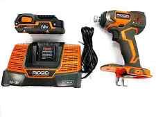 RIDGID 9.6 - 18v VOLT X4 LI-ION IMPACT DRIVER GUN 18v BATTERY CHARGER AND BAG
