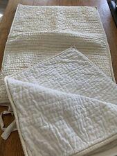 TWO Standard Pillow Shams from Pottery Barn in Pickstitch Velvet & Silk