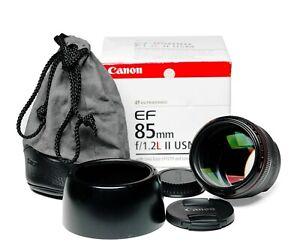 Canon 85mm f1.2L IIUSM lens for portraits etc. Beautiful bokeh