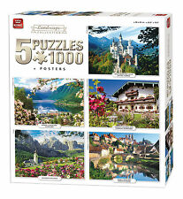 5 in 1 1000 Piece Jigsaw Puzzles International Landscape Collection 05209