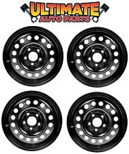 Steel Wheel Rim (15 inch) Wheels (Set of 4) Black for 10-13 Ford Transit Connect