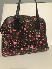 Kate Spade cameron street boho floral lottie Purse Crossbody Bag Handbag Black