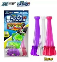 100 Zuru BUNCH O BALLOONS Water Balloon PURPLE WHITE PINK Fill in 60 Seconds NEW