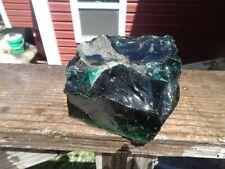Glass Rock Slag Clear Emerald Green 3.60 lb Rocks W74 Landscaping Aquariu