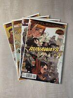 Runaways Run #1, #2, #3, #4 - Battleworld - Secret Wars