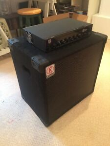 Eden E 300 Bass Head and Cab Amp good used condition