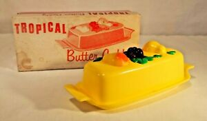 Vintage 1958 Starke Original Tropical Butter Caddy with Box