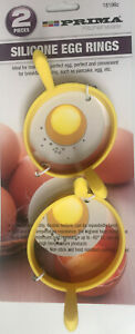 2 Pcs coloured  Silicone Round Mould Fried Fry Frier Oven Poacher Pancake Egg