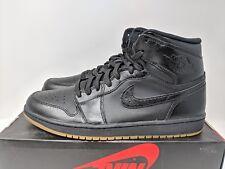 Nike AIR JORDAN 1 1985 MENS SIZE 8.5 BLACK GUM SOLE RETRO (555088 020) NEW