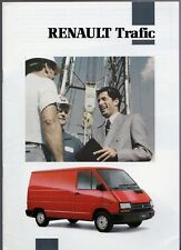 Renault Trafic 1991-92 UK Market Sales Brochure Prima T1100 T1400 Chassis Cab