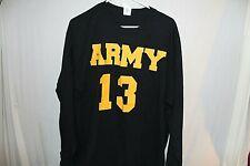 Army Long Sleeve Black Shirt Football #13 Extra Large
