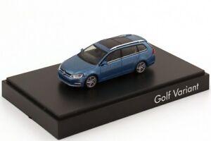 RARE VW GOLF 7 VII 5G GT HIGHLINE ESTATE VARIANT BLUE 1:87 RIETZE (DEALER MODEL)