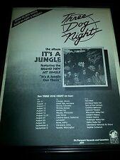 Three Dog Night It's A Jungle Tour Rare Original Promo Poster Ad Framed!