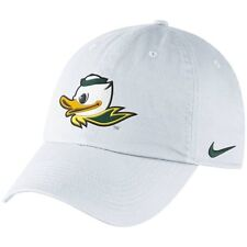 "Nike Oregon Ducks Mascot Heritage 86 Adjustable White Hat ""Free Shipping in USA"""