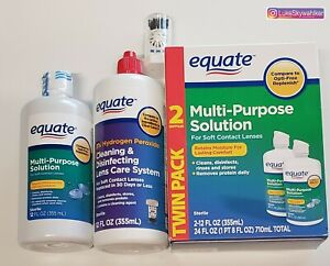 COMPLETE CARE! 3 bottles Equate MultiPurpose Solution Soft Contact Lenses System