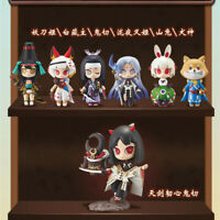 7pcs Cute Anime Games Onmyoji Characters Action Figures Collectibles Models Toys