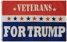 Veterans For Trump Red White Blue 3x5 3'x5' Rough Tex Woven Poly Nylon 68D Flag