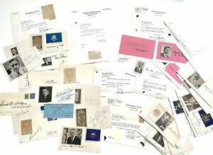 Historical & Political Notables - Approximately 50 Autographed Covers & Letters
