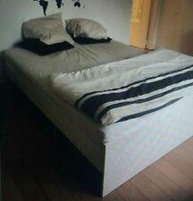 Lit blanc Ikea 140x200cm avec sommier
