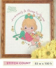 """PRECIOUS MOMENTS """"FRIENDSHIP IN BLOOM - CROSS STITCH PATTERN ONLY  HM RYR"""