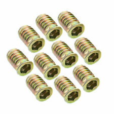 10Pcs M6*13 Wood Insert Screws Hex Socket Threads Bolts Fixing for Furniture