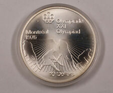 1976 Canada RCM 10 Dollar Silver 1976 Montreal Olympic Games Silver Coin