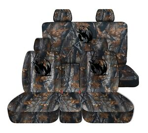 Fits 2014 to 2018 Chevrolet Silverado Trucks Dark Tree Camouflage Front and Rear