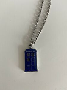 Dr Who Tardis, Police Box charm Silver Necklace