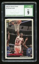 1995-96 Upper Deck Collectors Choice Michael Jordan #45 Chicago Bulls CSG 9 Mint