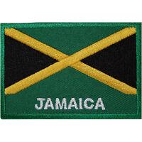 Jamaica Flag Embroidered Iron / Sew On Patch Jamaican Rasta Shirt Hat Bag Badge