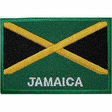 Jamaica Flag Embroidered Iron / Sew On Patch Jamaican Rasta Shirt Hat Bag Badge
