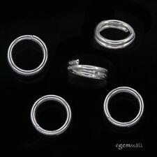 12 Sterling Silver Split Jump Ring 5mm 24ga #51841