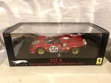 Hotwheels Ferrari Elite 512s Red 1/18 Mattel RARE T6959 #55 1000km