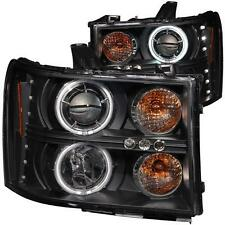 FITS 07.5-14 CHEVY CHEVROLET ANZO BLACK PROJECTOR HEADLIGHTS W/ CCFL HALO2.