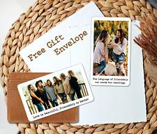 Personalised Metal Photo Text Card Wallet Friendship Maid of Honor Keep Keepsake